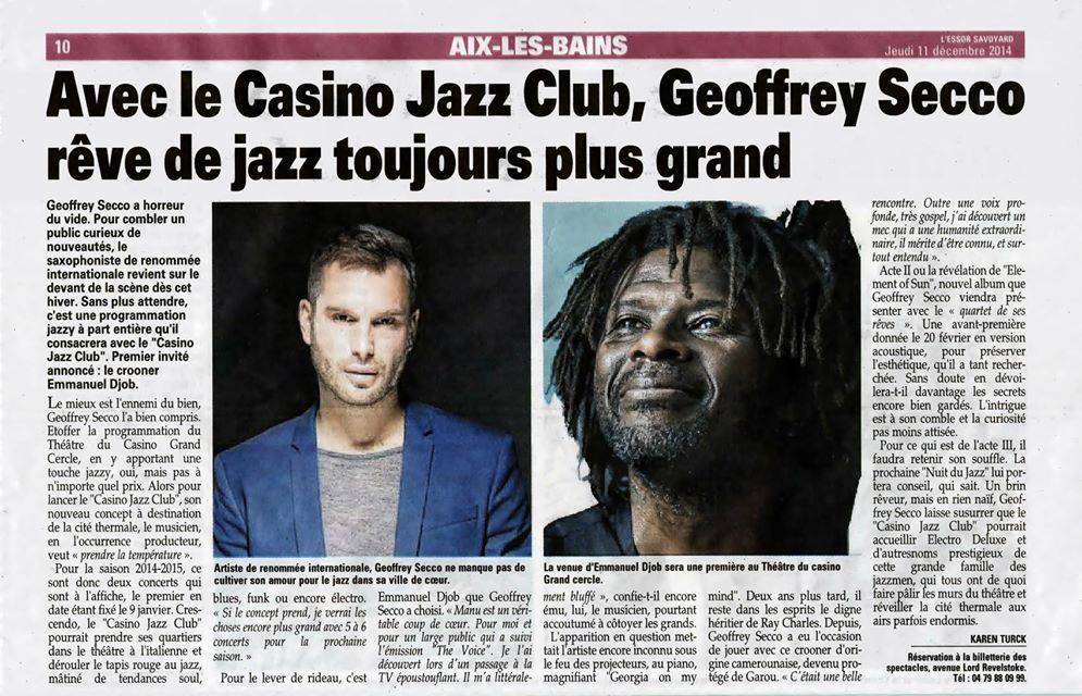 article presse annonce concert 29 janvier2015- Aix-les-Bains 73