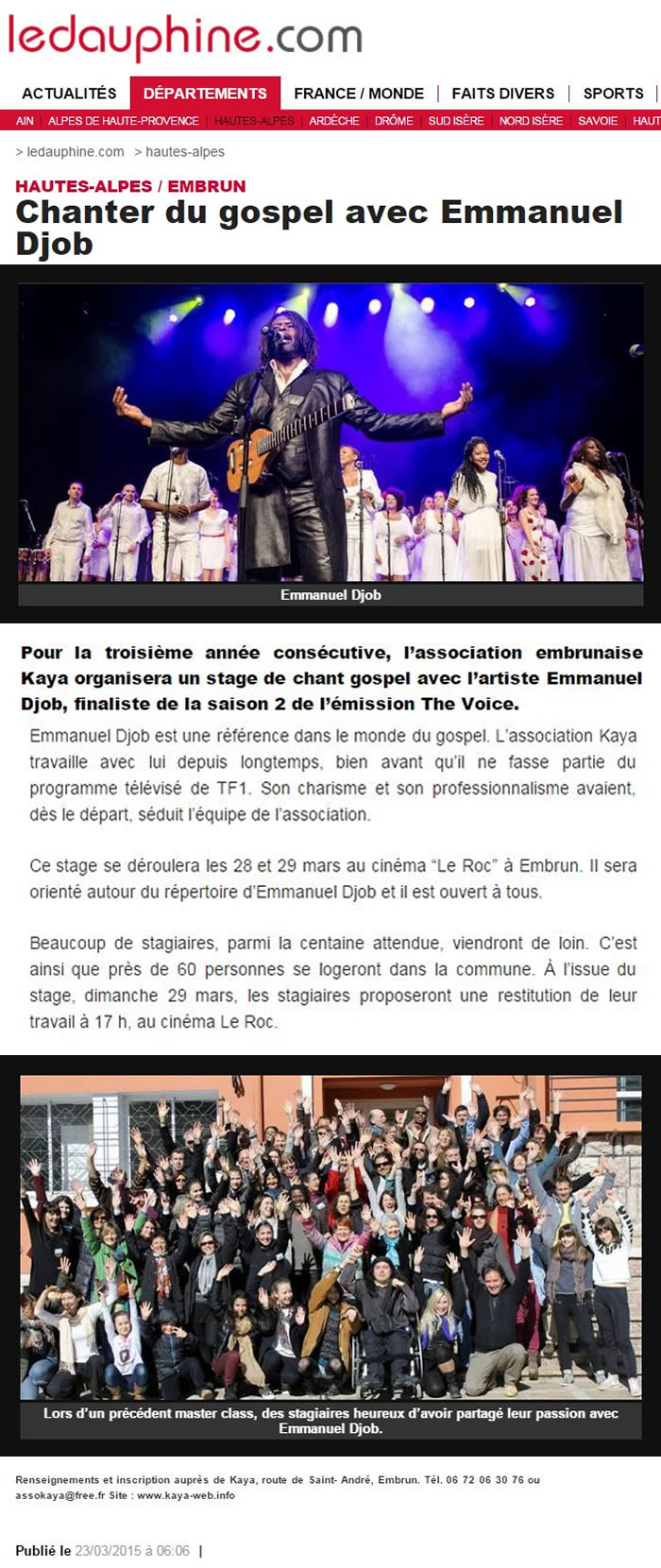Embrun stage Mars15