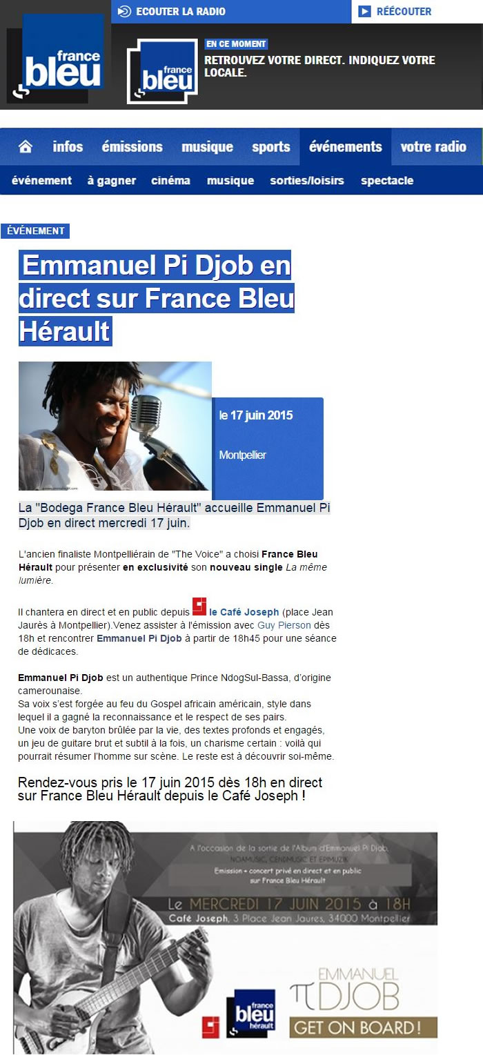 Radio France bleue Juin15