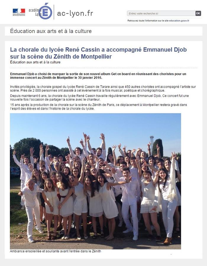Chorale Lycée RG Févr16