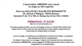 2020-03-20 stage gospel avec Emmanuel Pi Djob Annecy